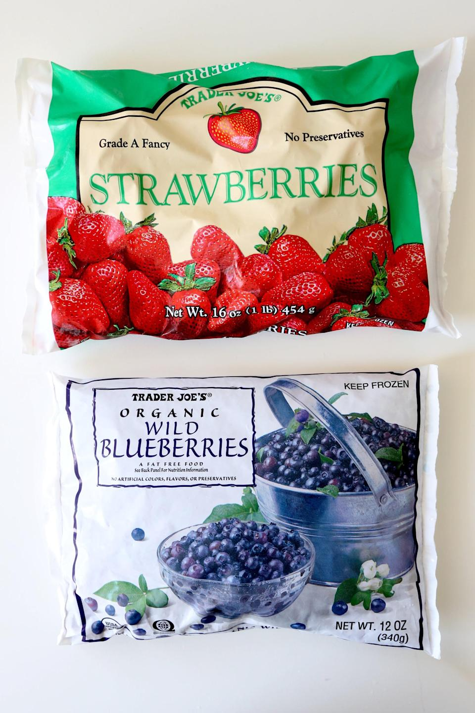 <p>Frozen fruit comes in handy for a number of reasons, and Trader Joe's has organic options that'll make you feel even better about your morning breakfast. Whether you're making smoothies, pancakes, muffins, or yogurt, TJ's frozen fruit selection is a must-have ingredient.</p>