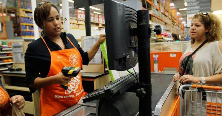 Getty Images. Home Depot's comparable sales also topped Wall Street estimates.
