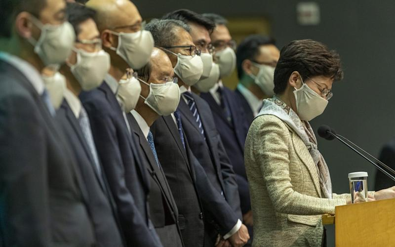 Carrie Lam, Hong Kong's chief executive, has pledged to enact the new Beijing laws - Justin Chin/Bloomberg