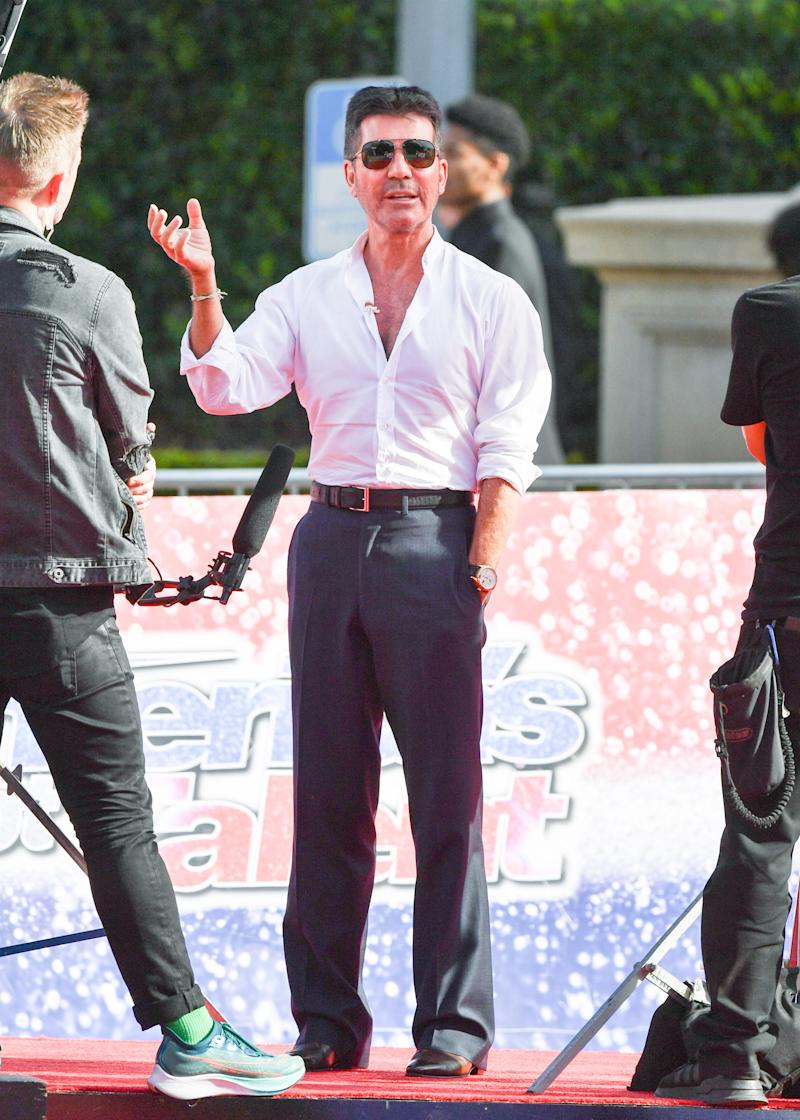 Simon Cowell is seen on March 04, 2020 in Los Angeles, California. (