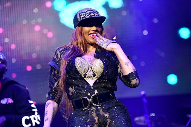 Sandra Denton, aka Pepa, performs at Honda Center in Anaheim, Calif., in January. (Photo: Getty Images)