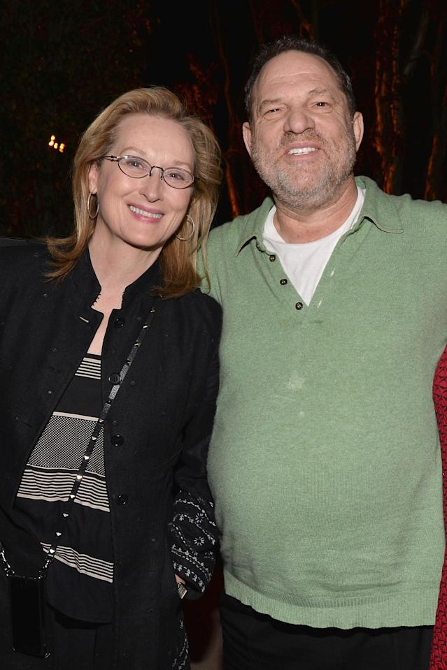 Meryl Streep and Harvey Weinstein. (Photo: Getty Images)