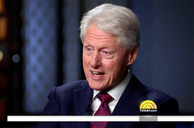 Bill Clinton on Today. (Photo: NBC)