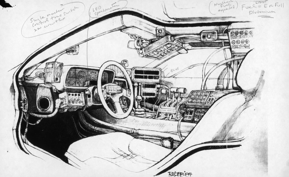 The DeLorean cockpit reimagined for skipping through time.