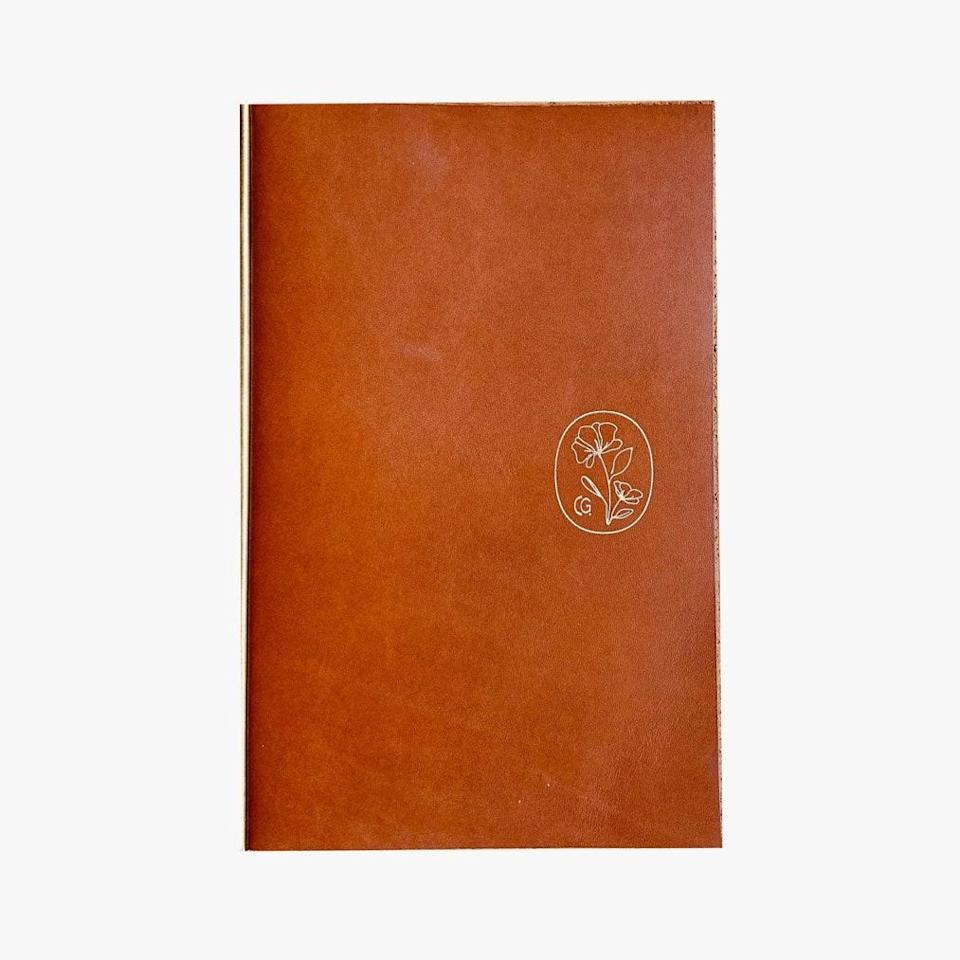 """The Casetta hotel group consists of boutique properties across the West and Southwest U.S. Each of their locations was transformed from an existing building, rooted in the culture of their place. Their Pearl hotel in San Diego sells this darling leather notebook. They also sell it online at their Casetta shop, where you'll find that 100% of all profits go directly to their staff who have been affected by the pandemic. $75, CASETTA SHOP. <a href=""""https://www.thecasettashop.com/product/casetta-compendium"""" rel=""""nofollow noopener"""" target=""""_blank"""" data-ylk=""""slk:Get it now!"""" class=""""link rapid-noclick-resp"""">Get it now!</a>"""