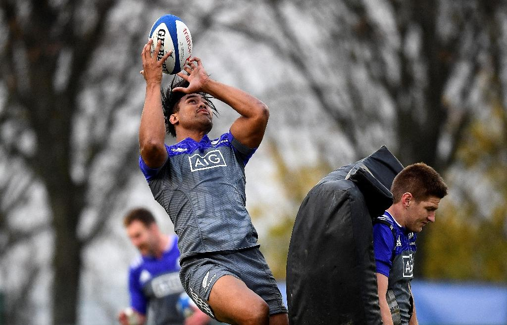 Malakai Fekitoa made his international debut in June 2014 after a sensational season for the Otago Highlanders and has scored eight tries in the All Blacks' jersey (AFP Photo/FRANCK FIFE)