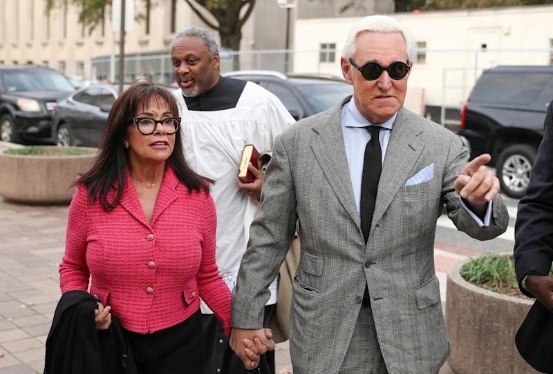 Roger Stone arrives for the continuation of his trial on charges of lying to Congress, obstructing justice and witness tampering in Washington DC: REUTERS