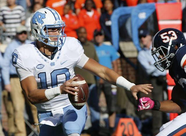 Mitch Trubisky could be the first quarterback selected in the NFL draft. (AP)