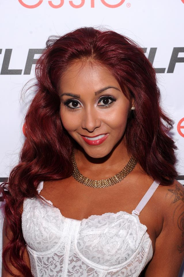"NEW YORK, NY - JULY 16: TV personality Nicole ""Snooki"" Polizzi attends Self Rocks the Summer Event on July 16, 2013 in New York City. (Photo by Jamie McCarthy/Getty Images for SELF Magazine)"
