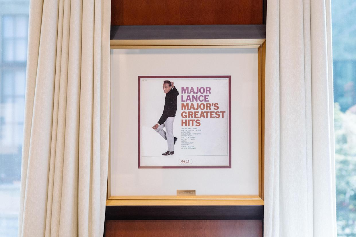 Framed album cover in the office of Atlanta Mayor Keisha Lance Bottoms. (Photo: Lynsey Weatherspoon for Yahoo News)