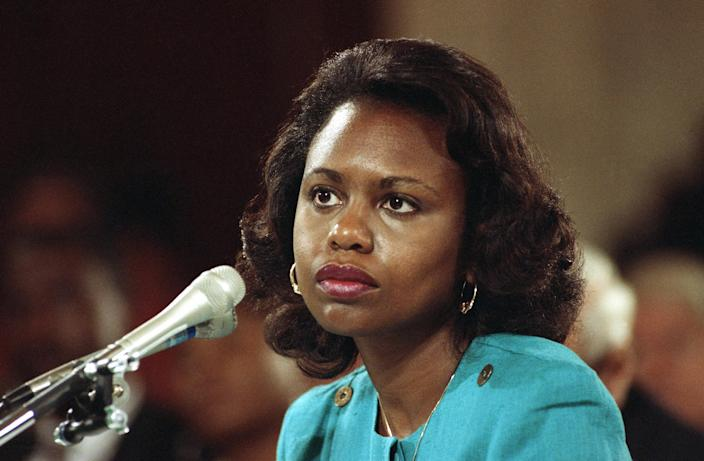 Anita Hill, then a law professor at the University of Oklahoma, testified that she had been sexually harassed by Supreme Court nominee Clarence Thomas. (Photo: AP)