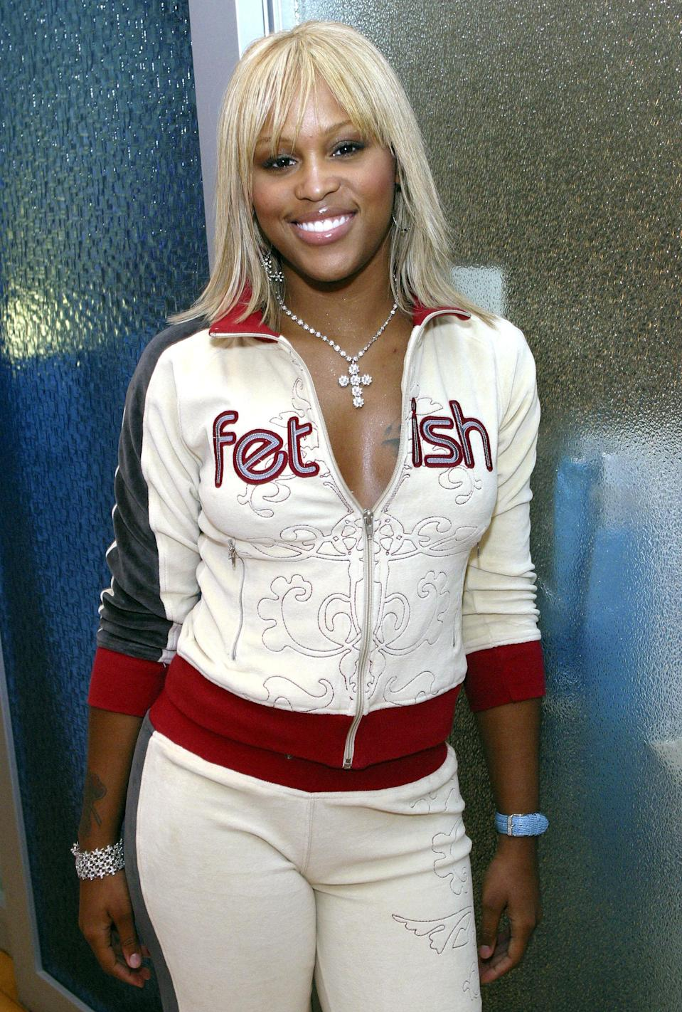 Rapper Eve launched her clothing line, Fetish, in 2003. The collection was a perfect time capsule of the early-aughts, complete with bedazzled tees, flashy denim, mega-hardware bags, and colorful tracksuits. It lasted until 2009.