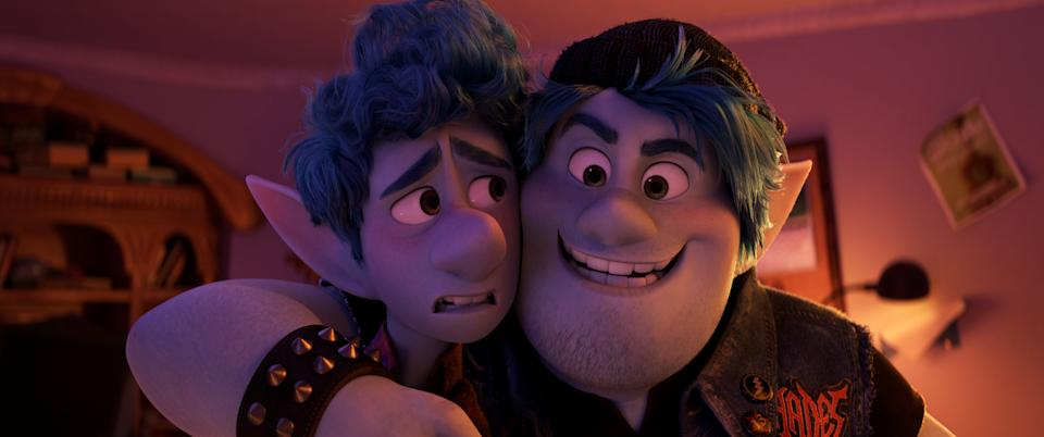 Tom Holland and Chris Pratt play elven brothers on a quest in 'Onward' (Photo: Disney Pixar)