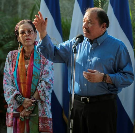 """Critics compare Nicaragua's Daniel Ortega, right, and his wife Rosario Murillo to Frank and Claire Underwood, the pitiless first couple from the hit series """"House of Cards"""""""