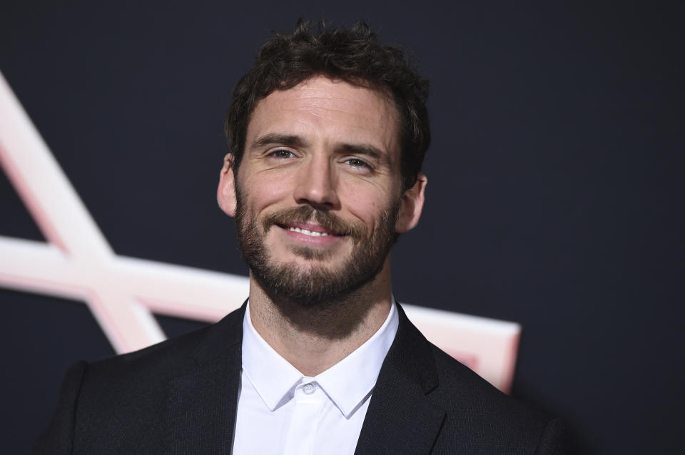 "Sam Claflin arrives at the Los Angeles premiere of ""Charlie's Angels"" on Monday, Nov. 11, 2019. (Photo by Jordan Strauss/Invision/AP)"