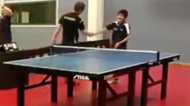 Why this incredible table tennis shot has caused controversy