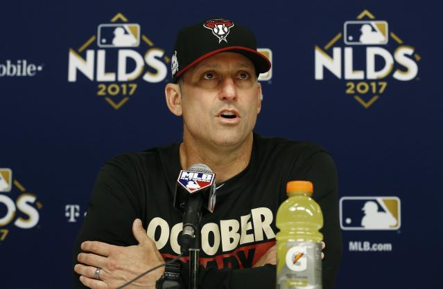 Arizona Diamondbacks manager Torey Lovullo turned his team from a 69-win team into a 93-win team. (AP)