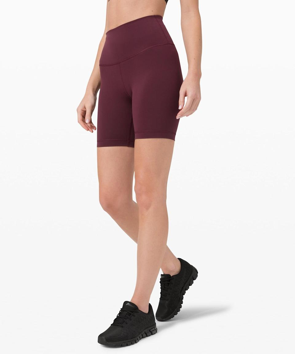 <p>If you're ready for sweaty, high-impact activities, you need these <span>Lululemon Wunder Train High-Rise Shorts</span> ($58).</p>