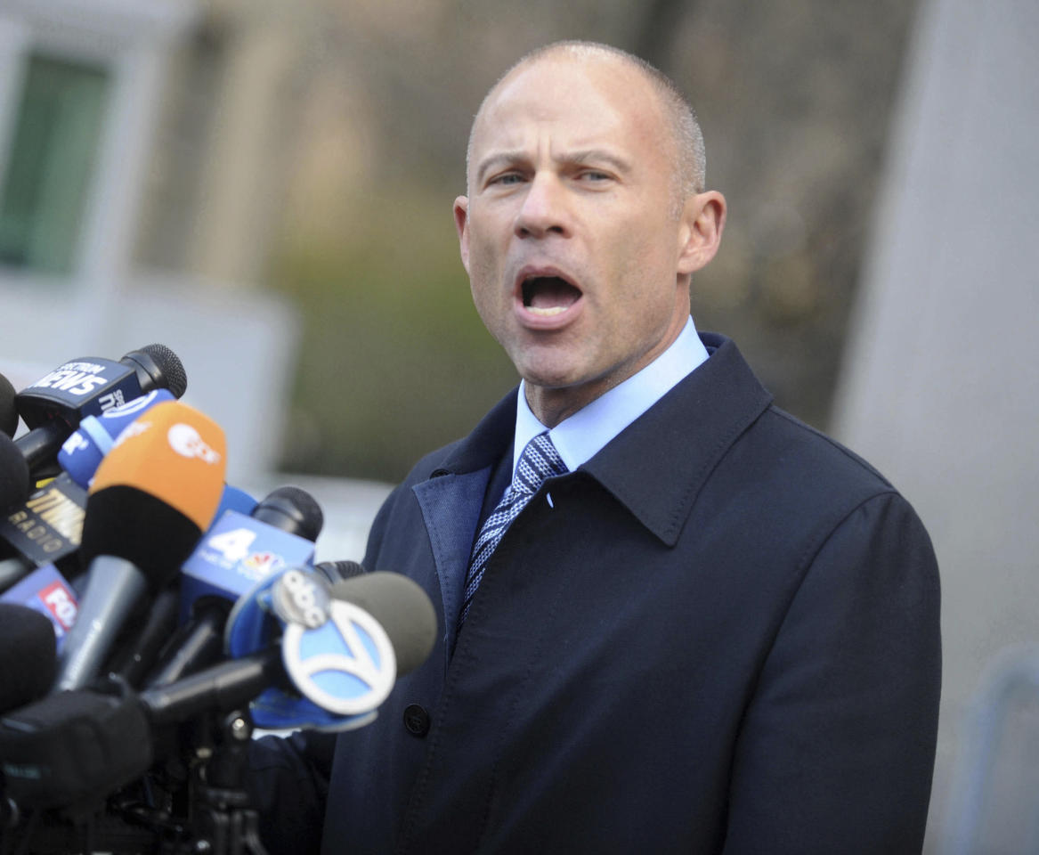 FEBRUARY 11, 2020: Michael Avenatti announced that he would not testify in court during his forthcoming Nike extortion trial in New York. - JANUARY 15, 2020: Michael Avenatti arrested by Internal Revenue Service (IRS) federal agents in California on general charges of bail violations and new specific allegations that he scammed a client out of $840,000. - MAY 28, 2019: Michael Avenatti pleads not guilty in federal court in New York City to all charges of theft, extortion, embezzlement and fraud in the Stormy Daniels and Nike, Inc. cases described below. - MARCH 26, 2019: Federal prosecutors in Manhattan, NYC and Los Angeles, CA charged celebrity attorney Michael Avenatti nearly simultaneously in two criminal cases on Monday, March 25, 2019. These complaints allege that Avenatti attempted to extort more than $20 million from Nike, Inc. and that he committed wire fraud and bank fraud. - File Photo by: zz/Dennis Van Tine/STAR MAX/IPx 2018 4/16/18 Michael Avenatti holds a press conference at the Federal Courthouse in New York City following the hearing for President Donald Trump's lawyer, Michael Cohen, at the US District Court for the Southern District of New York State. (NYC)