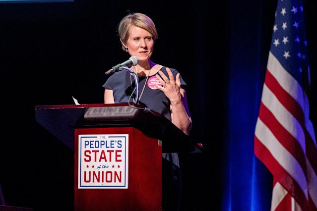 It's official! <em>Sex and the City</em> star Cynthia Nixon is running for governor. (Photo: Getty Images)