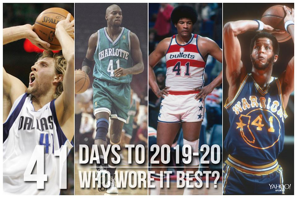 Which NBA player wore No. 41 best?