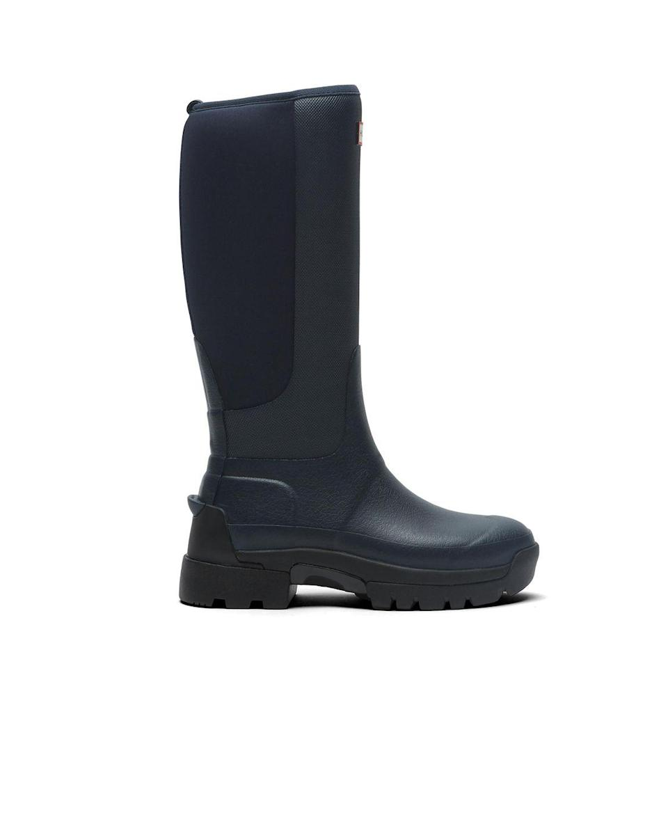 """<p>Hunter is playing around with its traditional shapes this season with various twists on the design, including the new Balmoral Hybrid Boots. Chunky, utilitarian and jersey-backed, they're perfect for wearing in the rain or the snow.<br></p><p>Balmoral Hybrid Tall Boots, £160, <a href=""""https://go.redirectingat.com?id=127X1599956&url=https%3A%2F%2Fwww.hunterboots.com%2Fgb%2Fen_gb%2F&sref=https%3A%2F%2Fwww.harpersbazaar.com%2Fuk%2Ffashion%2Fwhat-to-wear%2Fg35172401%2Fbest-wellies%2F"""" rel=""""nofollow noopener"""" target=""""_blank"""" data-ylk=""""slk:Hunter"""" class=""""link rapid-noclick-resp"""">Hunter</a><br><br>Available from February 8th 2021</p>"""