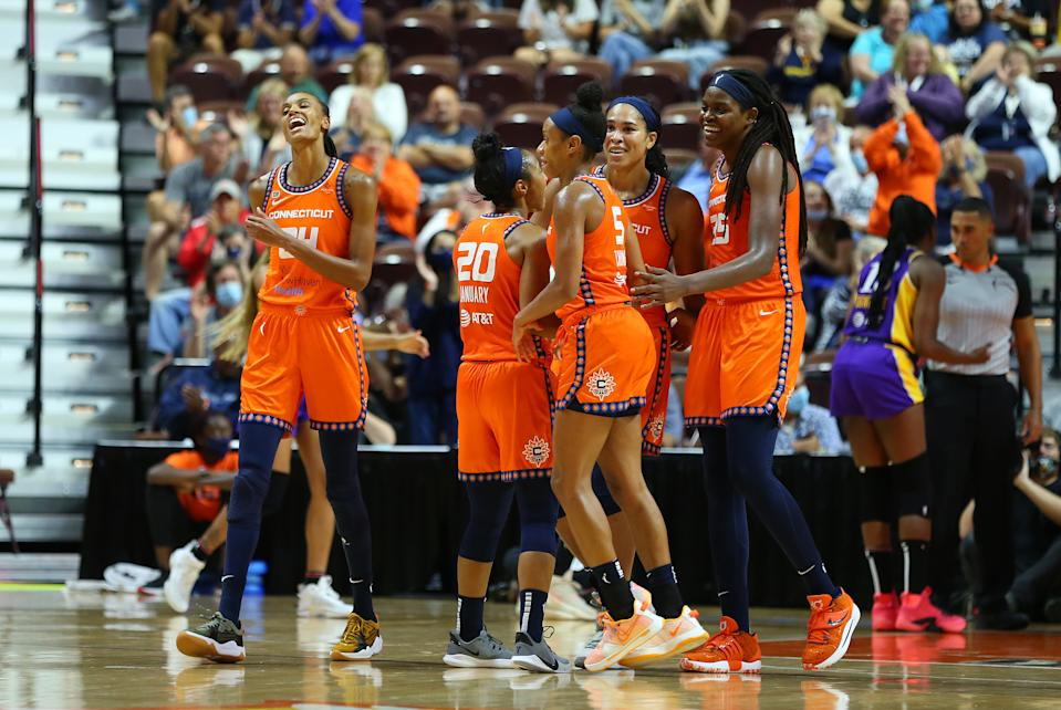 The Connecticut Sun rolled to the No. 1 seed with a dominant performance after the Olympic break. (M. Anthony Nesmith/Icon Sportswire via Getty Images)