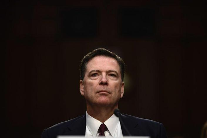 Former FBI Director James Comey arrives to testify during a US Senate Select Committee on Intelligence hearing on Capitol Hill in Washington,DC, June 8, 2017. (Photo: Brendan Smialowski/AFP/Getty Images)