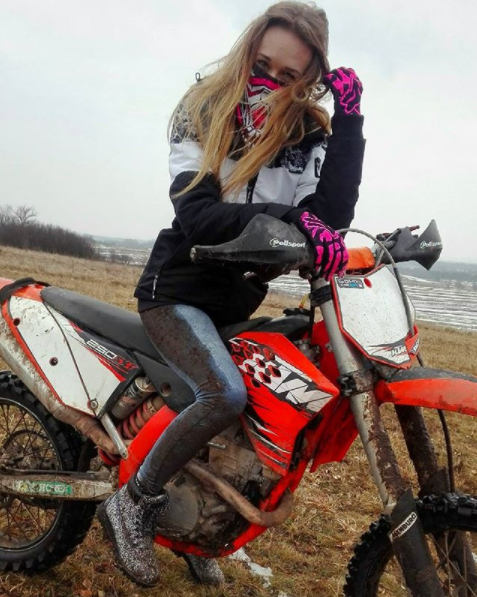 Milea is a professional motocross rider herself. Photo: Instagram/milusiaaxd