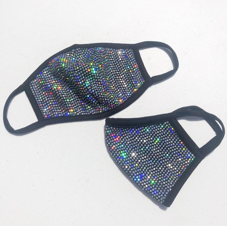 "$9, Etsy. <a href=""https://www.etsy.com/listing/831121562/adult-sequin-fabric-face-mask-bling?"" rel=""nofollow noopener"" target=""_blank"" data-ylk=""slk:Get it now!"" class=""link rapid-noclick-resp"">Get it now!</a>"