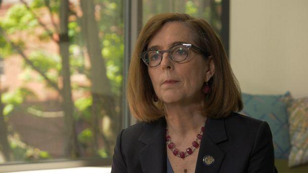 PHOTO: Oregon Gov. Kate Brown is shown in an interview with ABC News. (ABC)