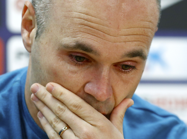 Tearful Andres Iniesta confirms his Barcelona exit and vows never to play against the club