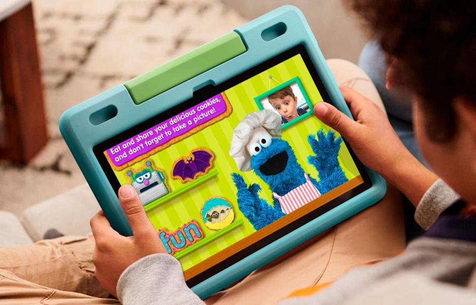 Don't, like, ENCOURAGE your kids to abuse Amazon's ruggedized Fire HD 10 Kids tablet, but if something bad happens, Amazon will replace it free of charge. (Photo: Amazon)