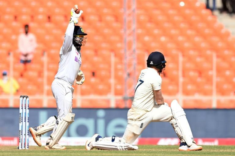 Man of the moment: Rishabh Pant celebrates after the dismissal of Dom Bess in the fourth and final Test