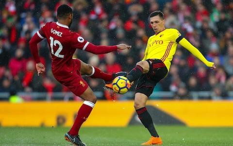 Liverpool teenager Trent Alexander-Arnold's exceptional season has been rewarded after the defender triggered an incentive bonus in his contract. Alexander-Arnold signed a five year deal at Anfield in July last year, but the club realised the 19-year-old had the potential to make sterling progress in the year ahead. Several appearance clauses were included to recognise his development, and the most recent was activated after his 30thsenior Liverpool appearance, improving his terms. He has now made 39 appearances under Jürgen Kopp. The 19-year-old has continued to prove his value throughout a breakthrough campaign, particularly excelling in the Champions League quarter-final against Manchester City which he followed up in with a man-of-the-match display against Bournemouth over the weekend. Liverpool's Academy graduate has seen his role significantly elevated over the course of this campaign, his adaptation to a right-back position even more impressive when it is considered he has spent most of his youth career as a midfielder. Although Liverpool do not publicise player salaries, it is believed the youngster's has significantly increased to at least around £40,000 a week as a result of his performances. Man City vs Liverpool player ratings Further recognition may yet follow if Gareth Southgate is convinced of Alexander-Arnold's England credentials before the World Cup, although England are not short of quality on the right of their defence with Kyle Walker and Kieran Trippier. Like Klopp, Southgate will be buoyed by Joe Gomez's upbeat assessment of his injury, which could put him back in contention for the trip to West Bromwich Albion this weekend. Gomez is hopeful of being fit for The Hawthorns after recovering from the ankle problem suffered while on international duty. He has missed the last three weeks, including five Liverpool fixtures. Liverpool's Joe Gomez, left, is confident he will be fit to play in the Champions League semi-final against Roma Credit: Robbie