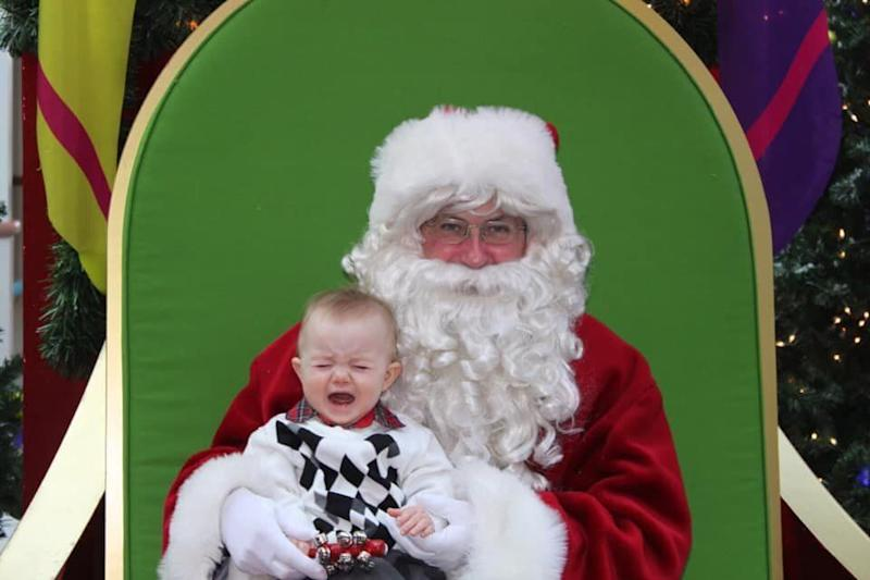 """My son Greysen's first Christmas at 8 months old (2010),"" writes Oshawa, Ont. mom Kierra Sanderson."