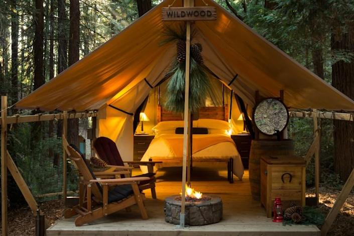 Ventana Big Sur - Tucked into a redwood canyon in northern Big Sur the tents at Ventana Big Sur reflect both the outdoors and a sense of luxury. (photo courtesy of Ventana Big Sur, An Alila Resort)