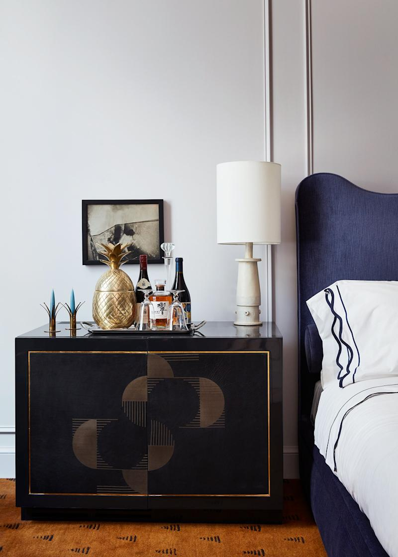 If only all bedside tables were so chic.