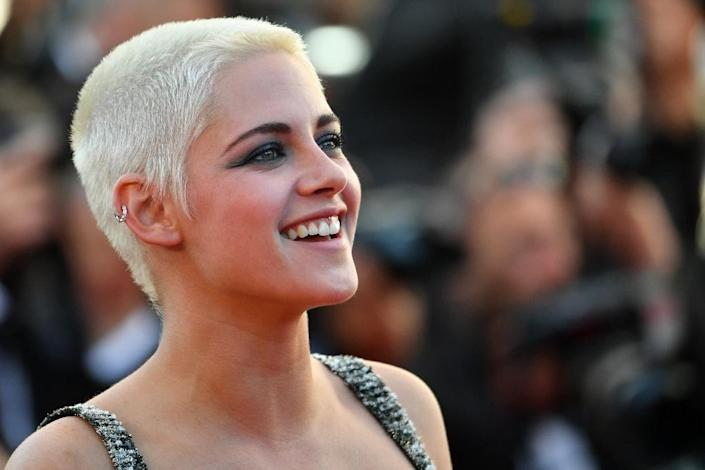 US actress Kristen Stewart showed off a closely cropped new haircut at Cannes (AFP Photo/LOIC VENANCE)