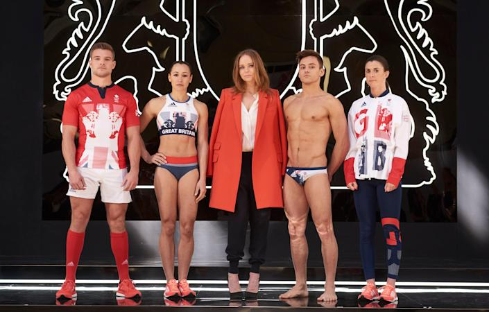 Rio 2016, promotional shot of Stella McCartney with Team GB athletes (adidas via Getty Images)