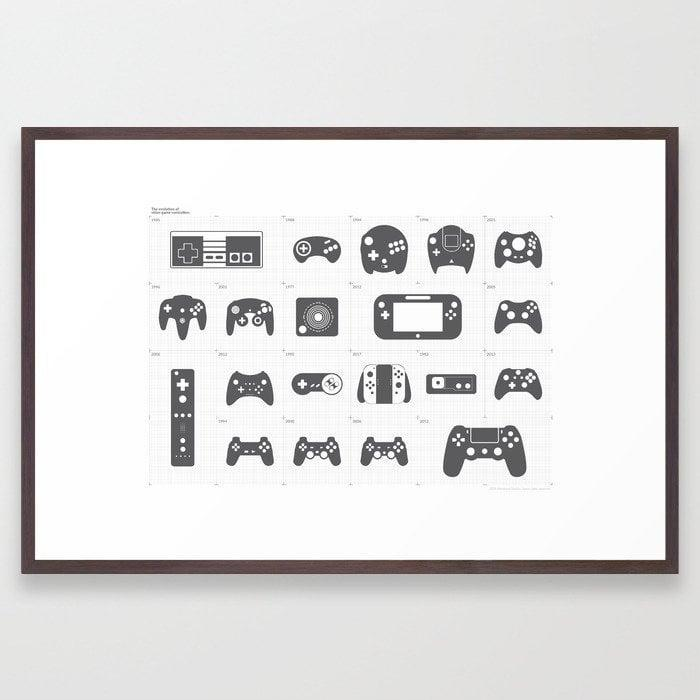 <p>This <span>Framed Art Print</span> ($30, originally $43) packs a fun history lesson on the evolution of video game controllers.</p>