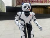 A panda robot is pictured at the Chinese Pavilion at the Expo 2020 in Dubai