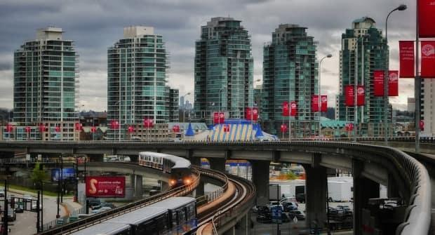 Dense highrise developments in downtown Vancouver may not seem very climate friendly, but densification has been seen as a way to restrict the human environmental footprint to a smaller area. (Christer Waara/CBC - image credit)