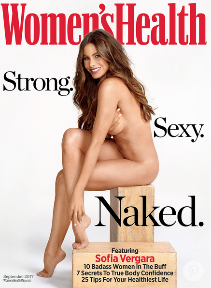 Sofia Vergara gets naked for Women's Health. (Photo: Matthias Vriens-McGrath/Women's Health)