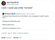"""<p>Ryan decided the best way to respond to <a href=""""https://www.elle.com/uk/life-and-culture/a19654465/ryan-reynolds-rumors-marriage-trouble-blake-lively/"""" rel=""""nofollow noopener"""" target=""""_blank"""" data-ylk=""""slk:marriage trouble rumours is to confront it head on"""" class=""""link rapid-noclick-resp"""">marriage trouble rumours is to confront it head on</a>... on Twitter... through a joke.</p>"""