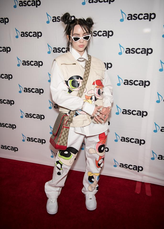 Billie Eilish arrives at the 36th Annual ASCAP Pop Music Awards at The Beverly Hilton Hotel on May 16, 2019 in Beverly Hills, California.