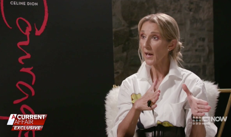 Céline Dion on a current affair