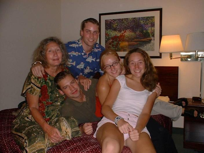 Patricia Peterson, left, with her four children, from left to right, Todd Peterson, Clayton Peterson, Martha Ratliff and Margaret Ratliff.