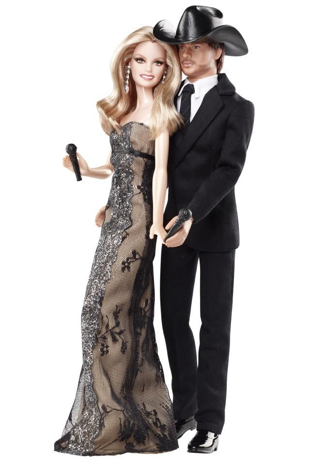 "<div class=""caption-credit""> Photo by: barbiecollector.com</div><b>Tim McGraw & Faith Hill dolls, released in 2011 for $49</b> <br> Faith Hill's expression dead on."
