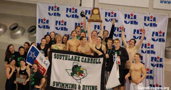 Southlake Carroll boys swimming state champions